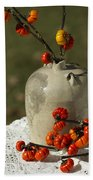 Moonshine Jug And Pumpkin On A Stick Bath Towel