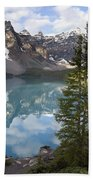 Moraine Lake In The Valley Of The Ten Bath Towel