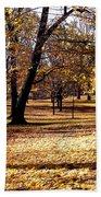 More Fall Trees Bath Towel