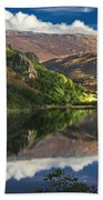 morning by Llyn Gwynant Bath Towel