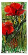 Morning Poppies Hand Towel
