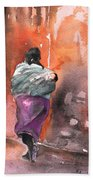 Moroccan Woman With Baby Detail Bath Towel
