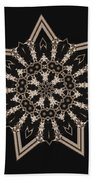 Mosaic Work Of Sepia Art  Hand Towel