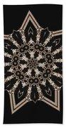 Mosaic Work Of Sepia Art  Bath Towel
