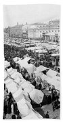 Moscow Russia - The Great Sunday Market - C 1898 Bath Towel