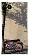 Motorcycle And Tree. Belgrade. Serbia Bath Towel