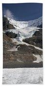 Mount Andromeda And Athabasca Glacier Bath Towel