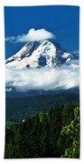 Mount Hood Framed By Trees, Oregon, Usa Bath Towel