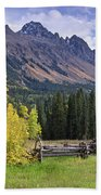 Mount Sneffels And Fence Bath Towel