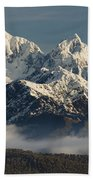 Mount Tasman And Mount Cook Southern Hand Towel