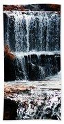 Mountain Stream Waterfall Bath Towel