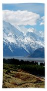 Mt Cook Across Lake Pukaki Bath Towel