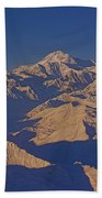 Mt. Mckinley Sunset From Above Bath Towel