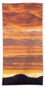 Mt Rainier December Sunrise Bath Towel