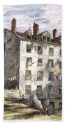 Mulberry Street, Nyc, 1873 Bath Towel