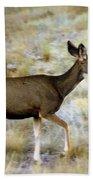 Mule Deer On The Move Bath Towel