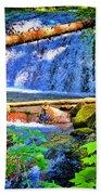 Multnomah Falls Oregon Bath Towel
