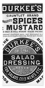 Mustard Ad, 1889 Bath Towel