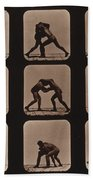 Muybridge Locomotion, Men Wrestling Bath Towel