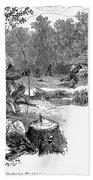 Native American Attack, C1640 Bath Towel