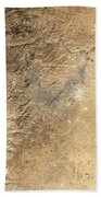 Natural-color Satellite View Of Amman Hand Towel