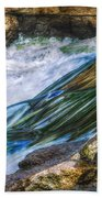 Natural Spring Waterfall Big River Bath Towel