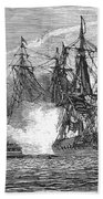 Naval Battle, 1813 Bath Towel