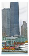 Navy Pier And Vicinity Bath Towel