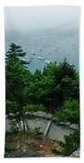 Ne Harbor Maine Seen From Thuya Gardens Mt Desert Island  Bath Towel