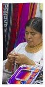 Needleworking Lady Hand Towel