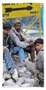 Nepali Labourers At Devraprayag Bath Towel