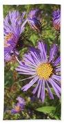 New England Aster Wildflower - Purple Bath Towel