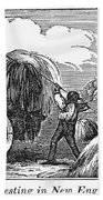 New England: Harvest, 1830 Bath Towel