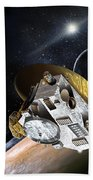 New Horizons Spacecraft At Pluto Bath Towel