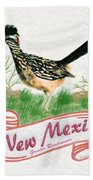 New Mexico State Bird The Greater Roadrunner Bath Towel