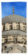 New Mosque Domes In Istanbul Bath Towel