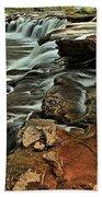 New River Waterfall Bath Towel