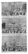 New York: Broadway, 1851 Bath Towel