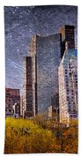 New York Buildings Bath Towel