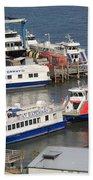 New York City Sightseeing Boats Bath Towel