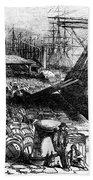 New York: Immigrants, 1854 Bath Towel