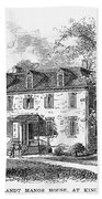 New York Mansion, 1748 Bath Towel