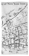 New York Map, 1730 Bath Towel