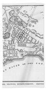 New York: Maps Bath Towel