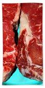 New York Steak Raw Bath Towel