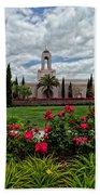 Newport Beach Temple Roses Bath Towel