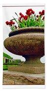 Niagara Falls Floral Urn Bath Towel