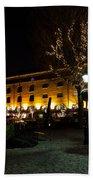 Night View Of St Katherines Dock London Bath Towel