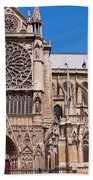 Notre Dame Cathedral Rose Window Bath Towel