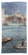 Nyc: The Battery, 1884 Bath Towel
